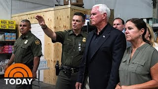 Download Vice President Mike Pence Visits Texas Migrant Detention Center | TODAY Video