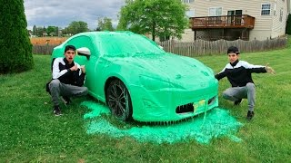 Download SLIME PRANK ON BROTHERS CAR! Video