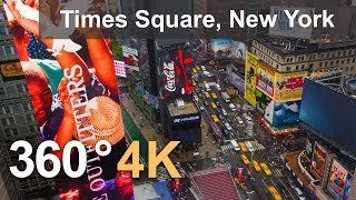 Download 360°, Times Square, New York, USA, 4K aerial video Video