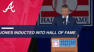 Download Chipper Jones inducted into the Baseball Hall of Fame Video