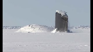 Download Giant Submarine Breaks Through Ice Video
