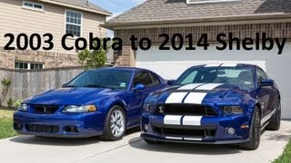 Download 2003 Cobra to 2014 Shelby GT500 Video