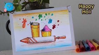 Download How to Draw Holi Festival Easy Drawing for Kids Video