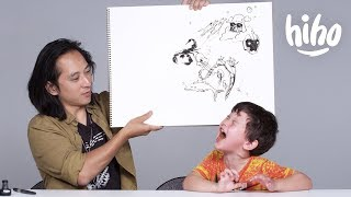 Download Kids Describe Their Fears to an Illustrator | Kids Describe | Cut Video