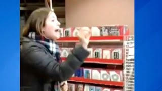 Download Woman Goes Ballistic in Michaels Store, Claims White Discrimination Video