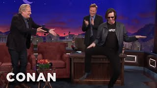 Download Jim Carrey Crashes Jeff Daniels' CONAN Interview - CONAN on TBS Video
