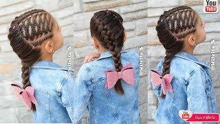 Download Peinados Fáciles Para Niña Paso a Paso / Tutorial trenzas de moda /WILVITA Video