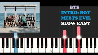 Download BTS - Intro : Boy Meets Evil (SLOW EASY PIANO TUTORIAL) Video