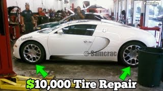 Download Guy Brought his BUGATTI to a JIFFY LUBE for a Tire Patch! Here's what happened... Video