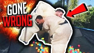 Download TRAMPOLINE SUMO 1V1 CHALLENGE *HILARIOUS* Video