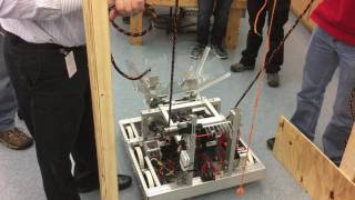 Download FRC Team 291, 2017 Steamworks Robot Climbing The Rope Video