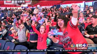Download Thousands of students watch UA b-ball win Video