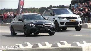Download 2017 Mercedes E63 S vs 488 Spider vs 991 Turbo vs Huracan Spyder - Dragrace! Video