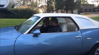 Download Kids surprise mom and dad with their 1st car, restored 1973 Pontiac Lemans Video