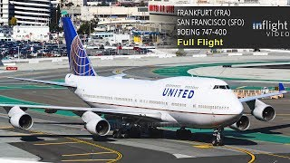 Download United Airlines Boeing 747-400 Full Flight | Frankfurt to San Francisco | UA927 (with ATC) Video