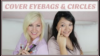 Download How to Cover Under Eye Dark Circles & Bags | Makeup for Women over 40 Video