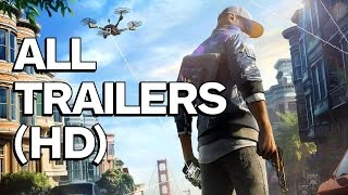 Download Watch Dogs 2 - All Trailers Video