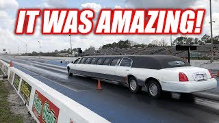 Download I Took My LIMO Drag Racing! (IT DOES BURNOUTS) Video