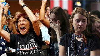 Download Delight vs. despair: Trump, Clinton supporters react as US election results announced Video