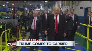 Download Trump visits Carrier plant to announce deal saving over 1,000 jobs Video
