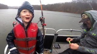 Download kids catch 100+ lbs of catfish - Tommy's first flathead! Fishing for catfish on a lake Video