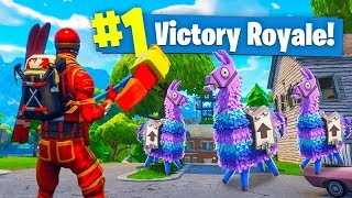 Download 3 LUCKY LLAMAS In ONE Game of Fortnite Battle Royale! Video