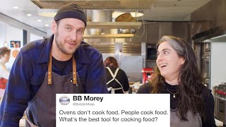 Download Bon Appétit's Brad & Claire Answer Cooking Questions From Twitter | Tech Support | WIRED Video