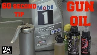 Download 60 second tip #2; Using Mobil 1 for your gun oil Video