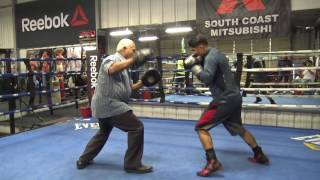 Download Big G homies came to see Mikey train - EsNews Boxing Video