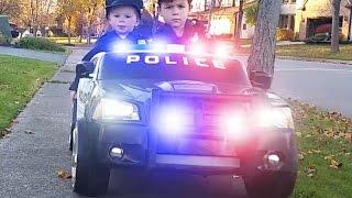 Download Power Wheels Police 1 - The Ice Cream Man | Kids Cars Kid Trax Video