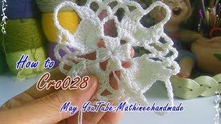 Download How to Cro028 Crochet pattern / ถักผังลายโครเชต์ ลายสี่เหลี่ยม Mathineehandmade Video