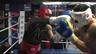 Download (WOW) ADRIEN BRONER LETS HANDS GO AND LIGHTS UP SPARRING PARTNER DURING INTENSE SESSION [HD] Video