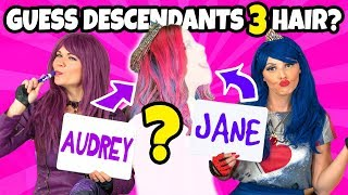 Download GUESS THE DESCENDANTS 3 CHARACTER BY THE HAIR. (Totally TV Characters) Video