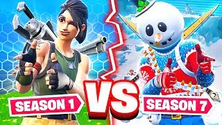 Download SEASON 1 VS SEASON 7 WEAPON CHALLENGE *NEW* Game Mode in Fortnite Battle Royale Video