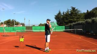 Download Improve Your Tennis Slice Serve With This Feel Drill Video