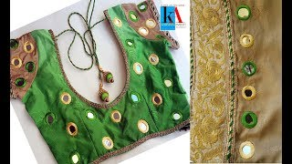 Download Hand Embroidery : mirror work on saree and blouse embroidery tutorial Video