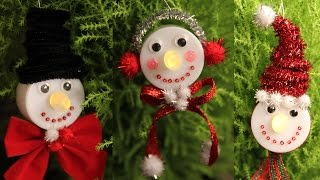 Download Snowman Tea Light Christmas Ornaments - Cheap Easy & Cutest Gifts DIY! Video
