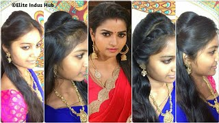 Download 4 Open Hair Indian Party Hairstyles | Nandhini serial Ganga Hairstyles Video