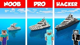 Download Minecraft NOOB vs PRO vs HACKER: MODERN YACHT HOUSE BUILD CHALLENGE in Minecraft / Animation Video