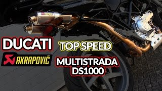 Download DUCATI MULTISTRADA DS1000    Top speed with Akrapovic ! Video