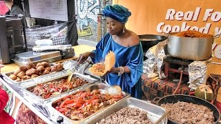 Download African Food from Ghana Tasted in London. Street Food of Brick Lane Video
