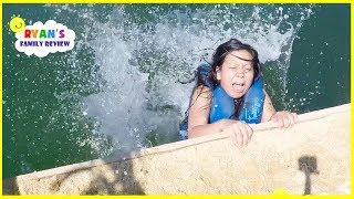 Download First Time at the Beach in Mexico + Ryan Surprise Mommy with Dinosaur Eggs!!!! Video