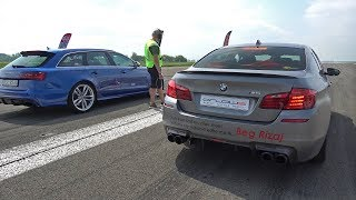 Download 900HP BMW M5 F10 HPT vs 750HP Audi RS6 Avant Video