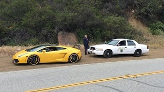 Download The CHP hates LOUD Lambos. Especially if they shoot FLAMES! Video