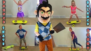 Download Hello Neighbor in Real Life! Comes to My House and Steals Our MorfBoards! We Challenge him!!! Video