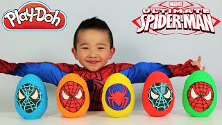 Download Ultimate Spiderman Play-Doh Surprise Eggs Opening Fun With Ckn Toys Video