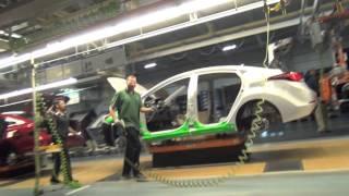 Download 2015 Hyundai Sonata driven off the production line at Hyundai Manufacturing Motor Alabama Video