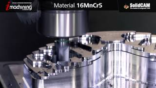 Download iMachining 3D - Brillen Modell fräsen - 16MnCr5 Video