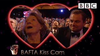 Download Leonardo DiCaprio and Dame Maggie Smith on Kiss Cam - The British Academy Film Awards 2016 - BBC One Video
