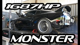 Download 1687WHP MONSTER Supra BRUTAL Dyno Runs Video